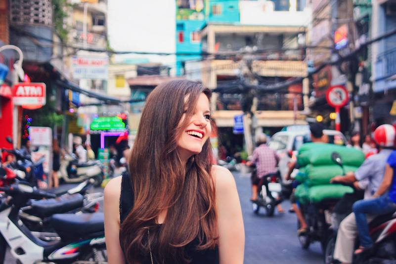 Digital Nomad Jodi Ettenberg Reveling In the Joy of Packing Cubes on the Streets of Saigon