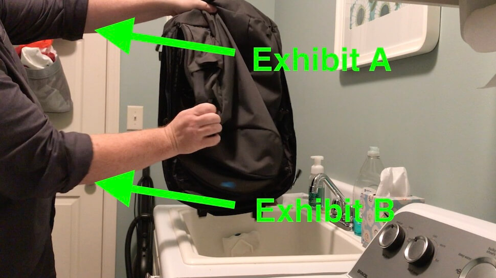 How to clean your backpack rolled sleeves