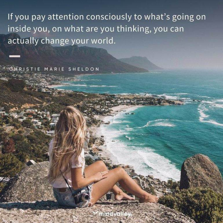 Christie Marie Sheldon quote - change your world