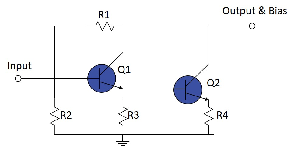 Biasing of Constant Current MMIC Amplifiers (e.g. ERA Series)