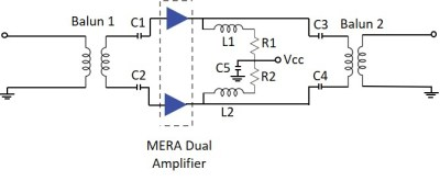 "Uses and Advantages of ""MERA"" Dual Matched MMIC Amplifiers"
