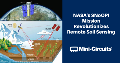 Mini-Circuits Helps Pioneer New Remote Soil Sensing Technology in NASA's SNoOPI Mission