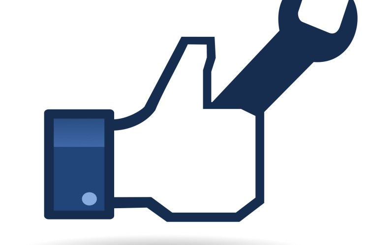 Facebook Like button holding tools.