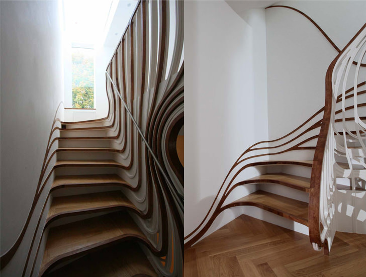 12 Amazing and Creative Staircase Design Ideas on Creative Staircase Wall Decorating Ideas  id=94247