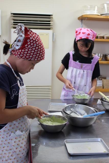 抹茶のムース お菓子教室