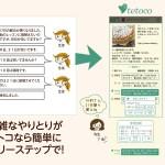 教室向け顧客管理アプリテトコ 振替トーク