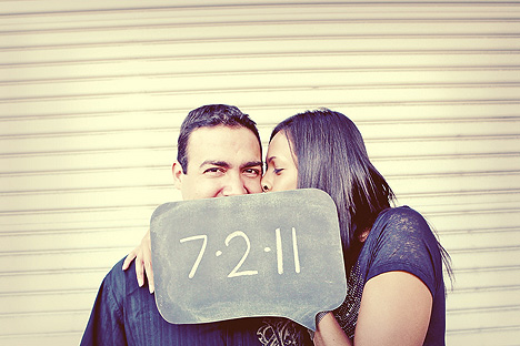 save the date chalkboard photos