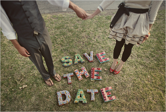 hipster save the date card idea