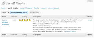 WordPress Plug-in Search Results