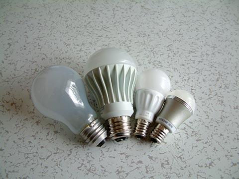各種電球を比較してみた。