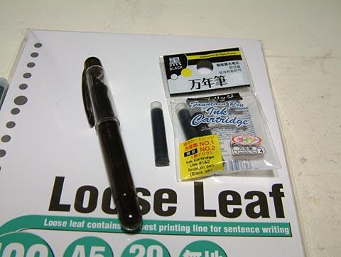 実はこれもかなり前にダイソーで買った万年筆。