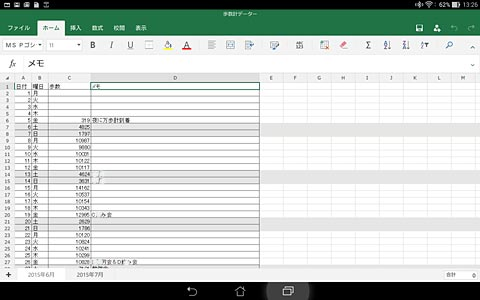 簡単な表ならさくっと作成できます。