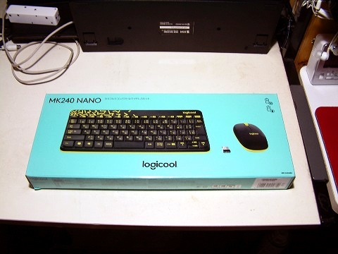 ロジクールのワイヤレスキーボード&マウスのセット。安かったのでつい…(笑)