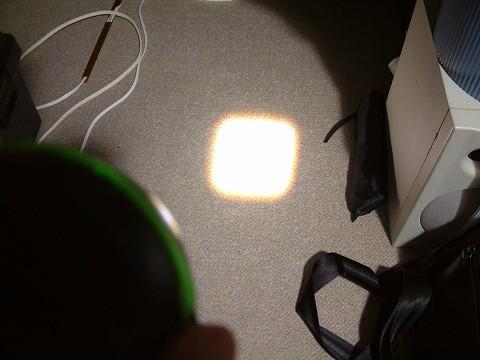 明かりが四角い!