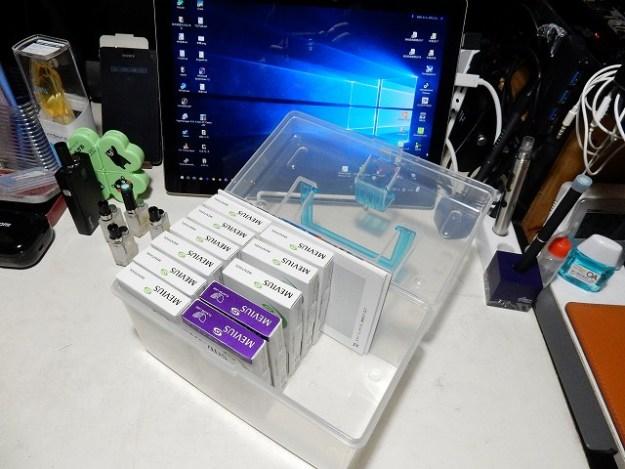 たばこカプセルの保管は、100均のボックスw
