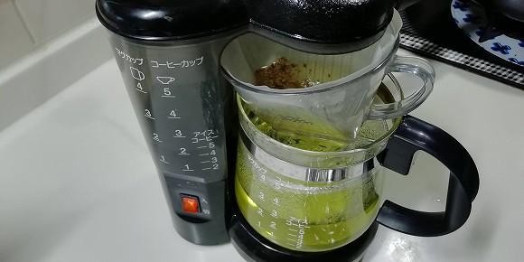 コーヒーメーカーで、サクッとそば茶w