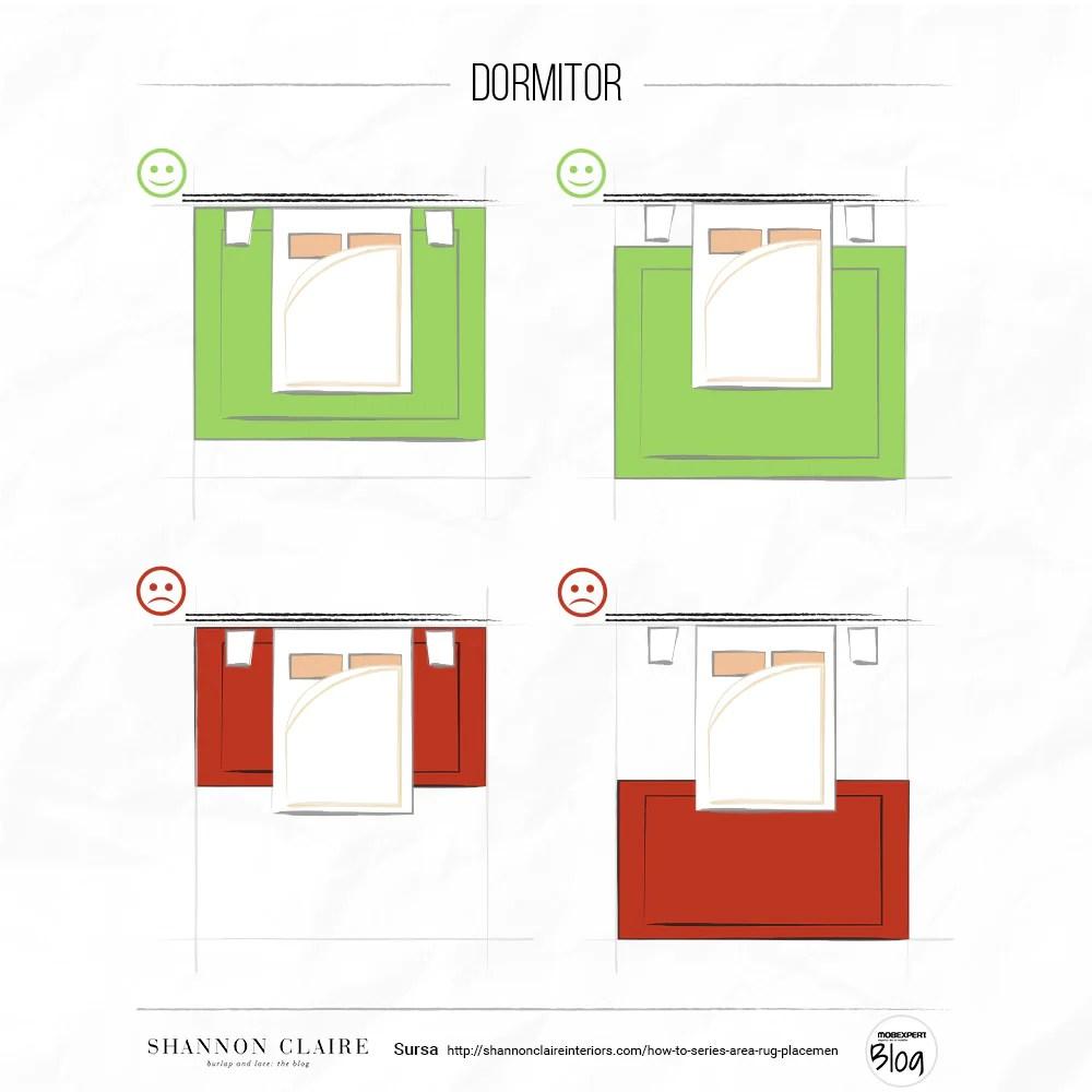 Mobexpert Blog - Cum alegi dimensiunile covorului pentru dormitor, living și dining