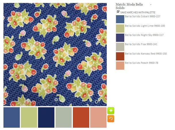 создание цветовой палитры ткани