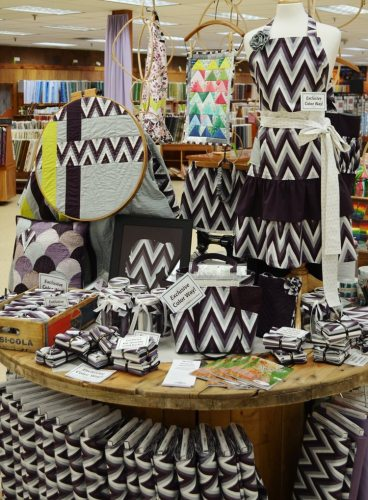Display-Exclusive 2014 Moda Fabric with employee projects