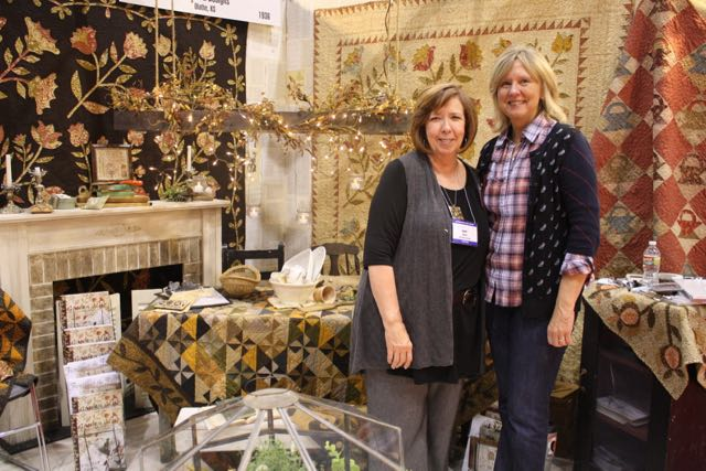 Barb Adams and Alma Allen of Blackbird Designs always have a gorgeous booth (here in 2010)
