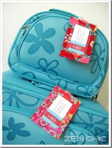 zen chic luggage tag