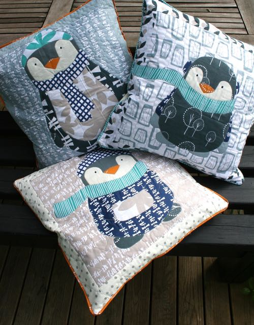 Winter Penguin cushions