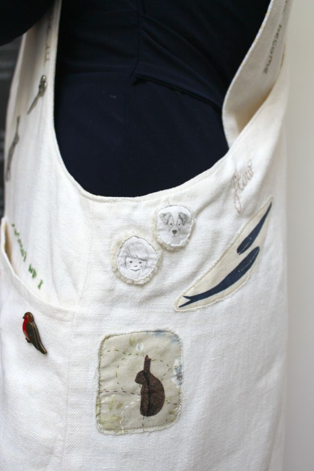 Apron Detail - Whales and Bunny