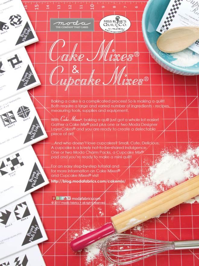 Cake Mixes and Cupcake Mixes by Moda