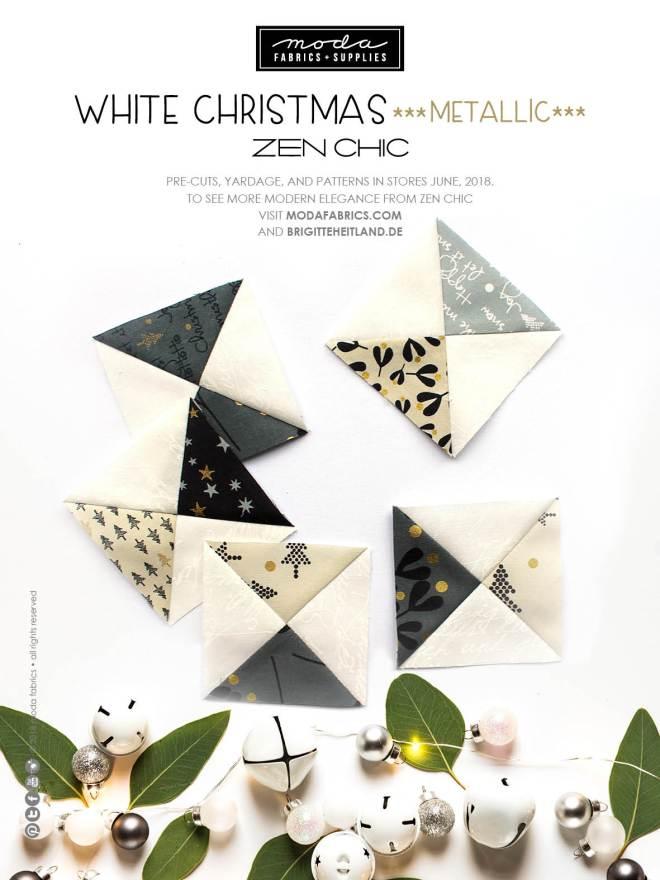 White Christmas Metallic by Zen Chic