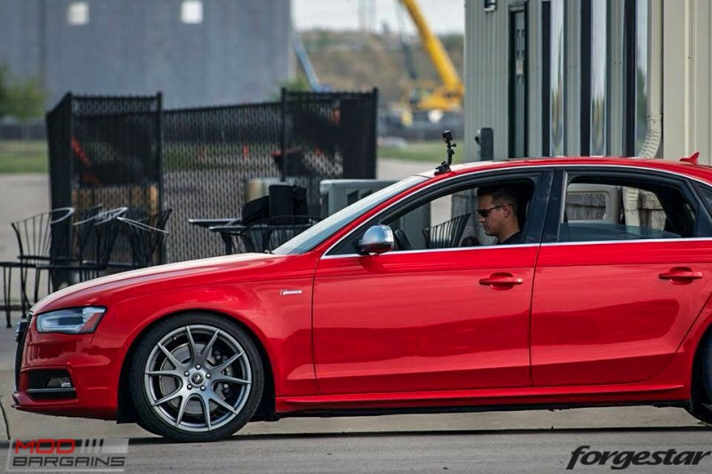 Forgestar CF5V Audi B8 S4 Silver 19x9ET39 Red On Track (4)