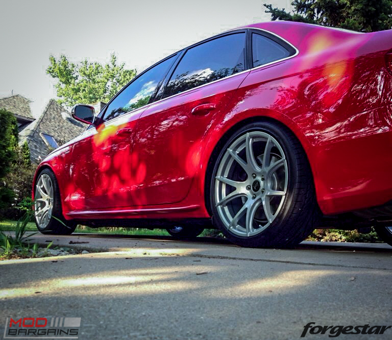 Forgestar CF5V Audi B8 S4 Silver 19x9ET39 Red On Track (7)
