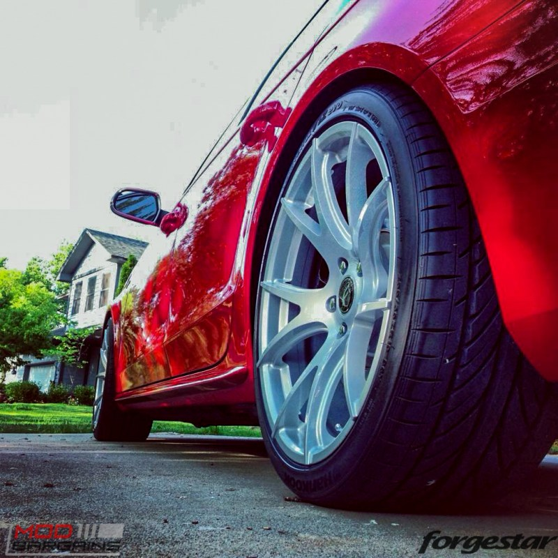 Forgestar CF5V Audi B8 S4 Silver 19x9ET39 Red On Track (8)