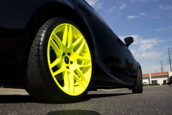 Lexus IS250 Yellow Forgestar Wheels F14