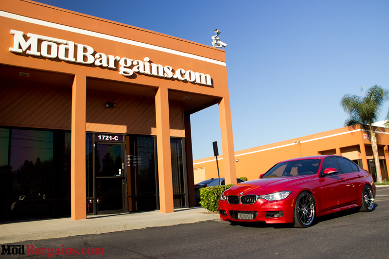 Red BMW 335i F30 ModBargains.com