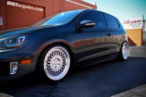 Black VW Golf GTI Silver Avant Garde Wheels
