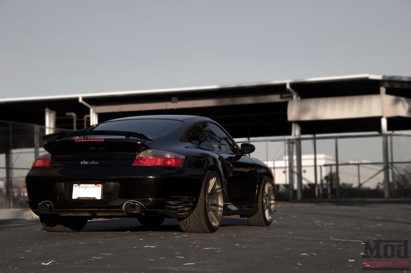 Black 2004 Porsche 996 Turbo Rear