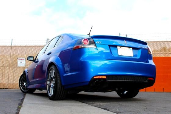 Blue Pontiac G8 VMR V710 Wheels Rear Bumper Tail Lights