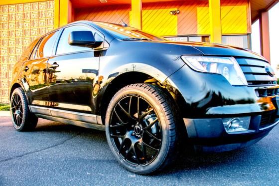 Black Ford Edge Avant Garde M310 Matte Black Wheels Front Fender