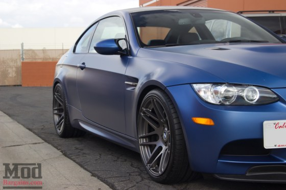 Frozen Blue M3 on Super Deep Concave Forgestar F14 Wheels in Matte Black