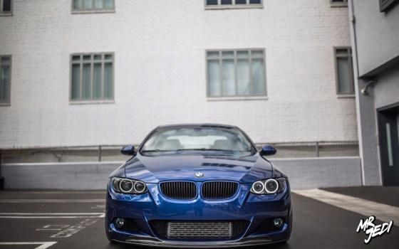 Blue 2007 BMW E92 335i Front Bumper Grilles