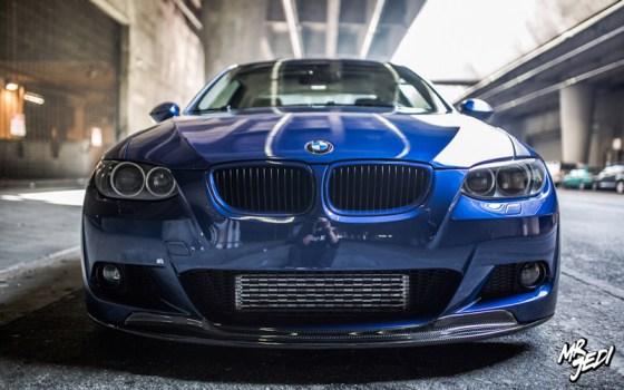 Blue 2007 BMW E92 335i Front Bumper Headlights Grille Intercooler