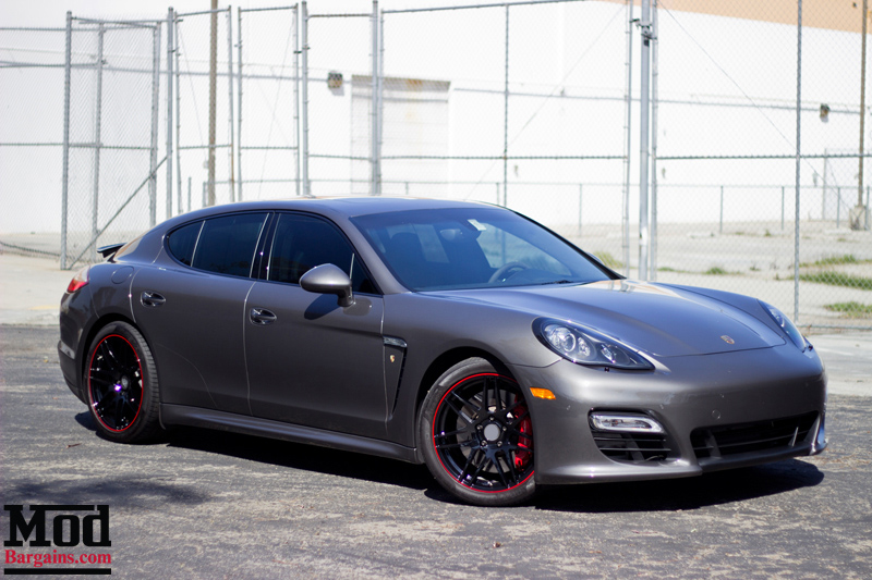 Black Widow Porsche Panamera Gt S On Forgestar F14s
