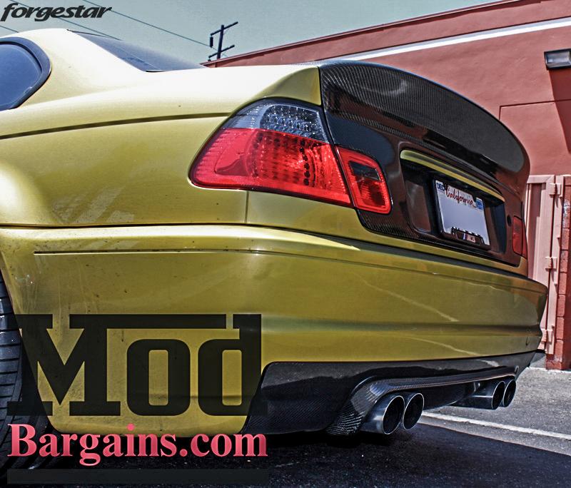 BMW E46 M3 Dakar Yellow Forgestar F14 Matte Black 19x9 19x10 (11)