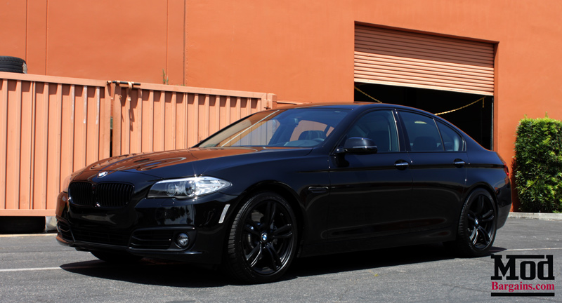 murdered out f10 bmw 535i gets low on eibach springs. Black Bedroom Furniture Sets. Home Design Ideas