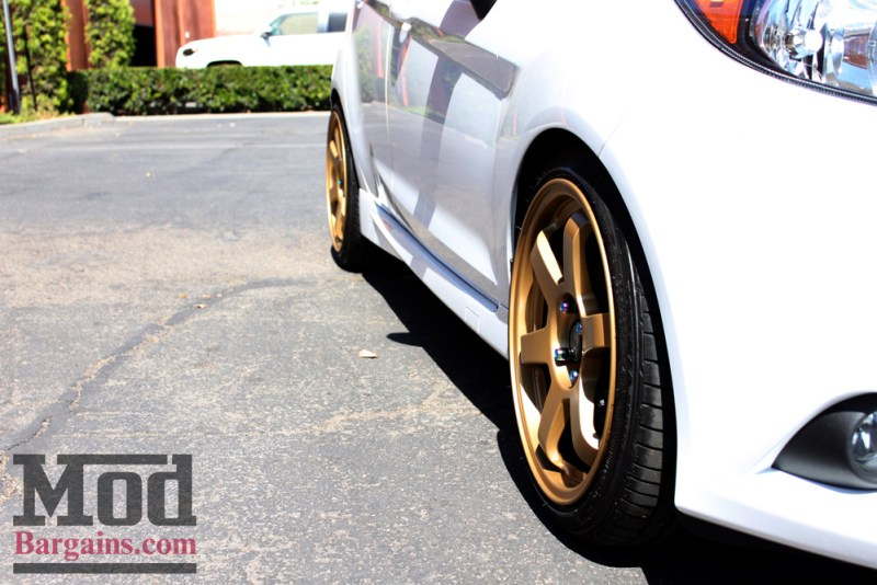 White Ford Fiesta ST Gold Wheels
