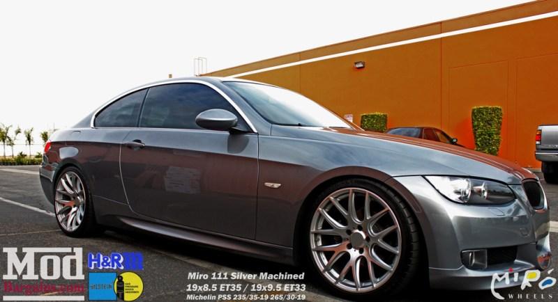 BMW_E92_328i_Gray_CF_Performance_Diffuser_BilsteinShocks_Miro_111_wheels_silver_19x85et35_19x95et33_HRSprings_img012
