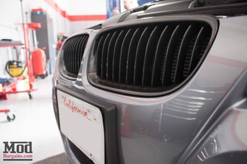 Carbon Fiber Grilles Gray BMW E90 328i Modification