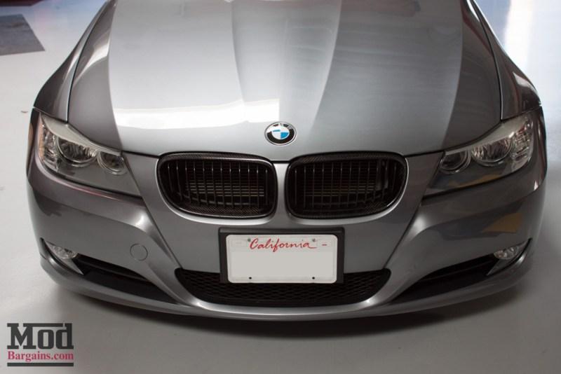 Gray BMW E90 328i Hood