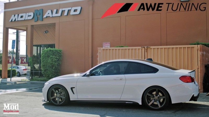 BMW 435i AWE Tuning Exhausat Side Profile Mod Auto 1