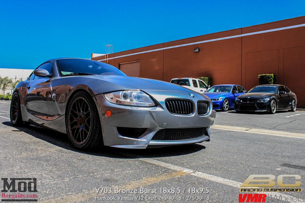 Bmw Z4m Coupe Gets Vmr V703 Wheels In Bronze Burst